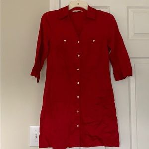 Red button up Old Navy dress